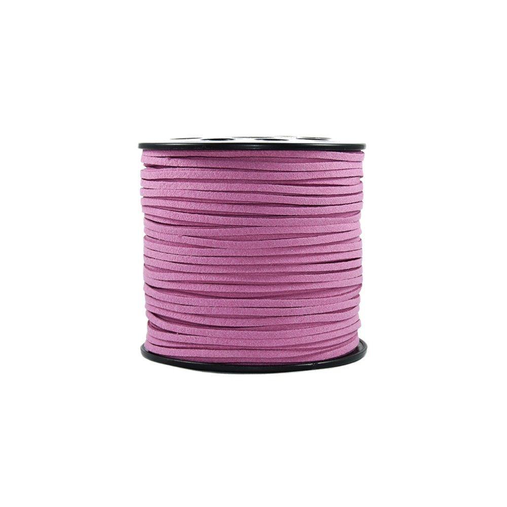 Fio de Camurça - Pink - 3mm - 100m  - Nathalia Bijoux®