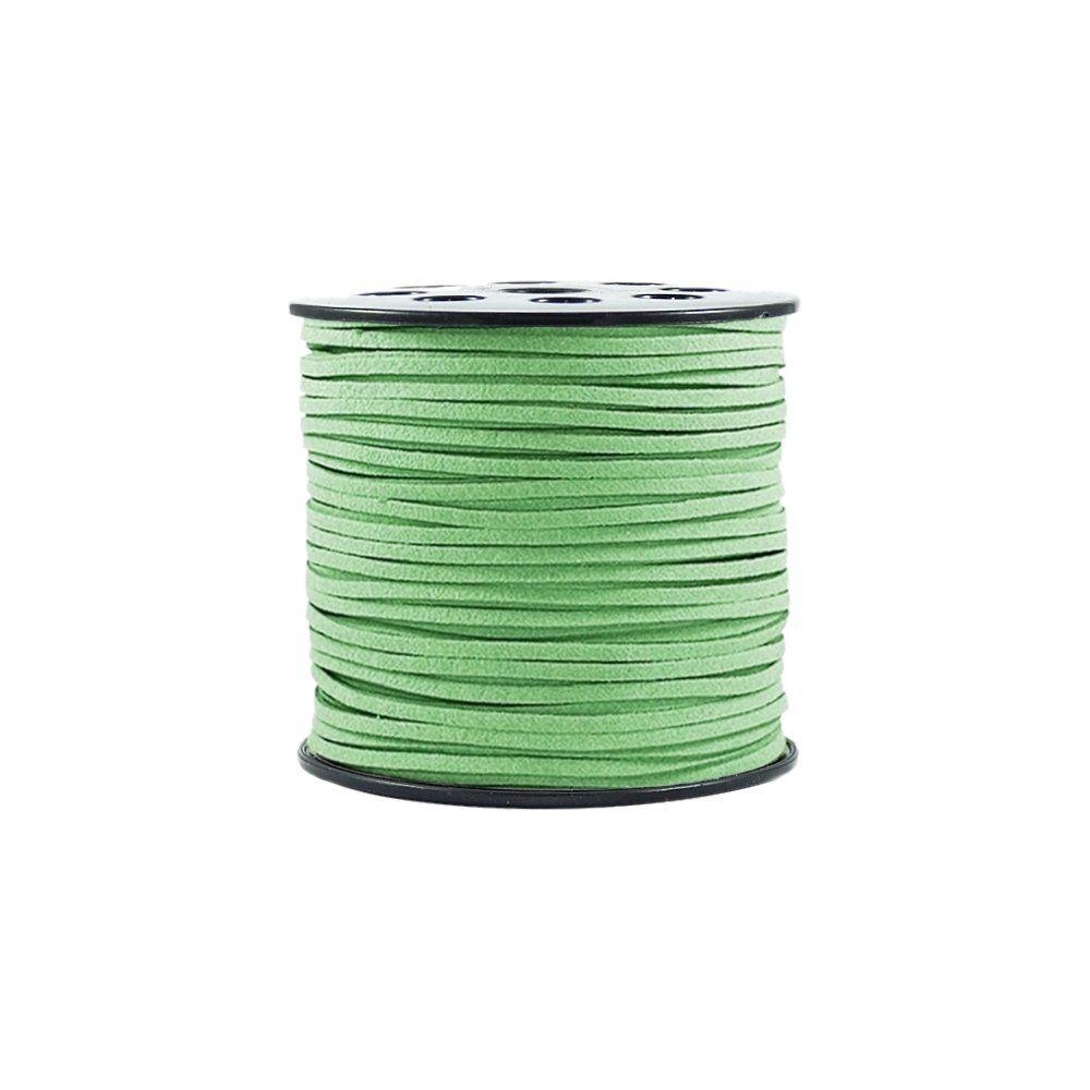 Fio de Camurça - Verde Pistache - 3mm - 100m  - Nathalia Bijoux®