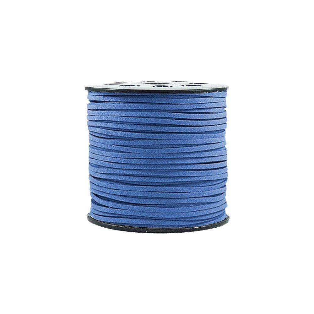 Fio de Camurça - Azul Royal - 3mm - 100m  - Nathalia Bijoux®