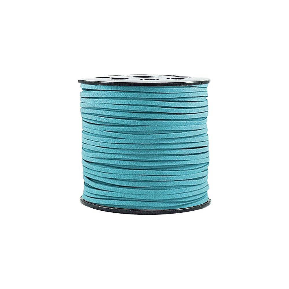 Fio de Camurça - Azul Turquesa - 3mm - 100m  - Nathalia Bijoux®