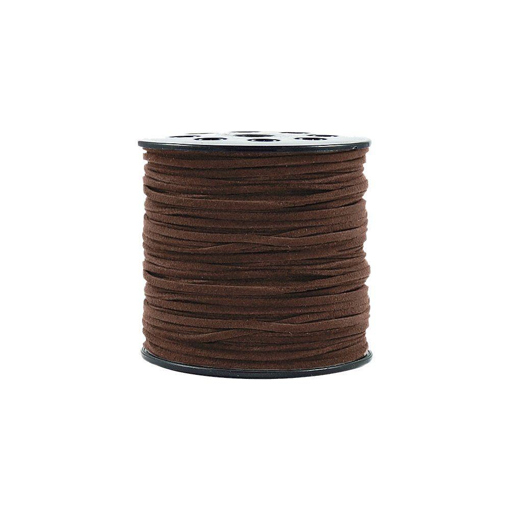 Fio de Camurça - Chocolate - 3mm - 100m  - Nathalia Bijoux®