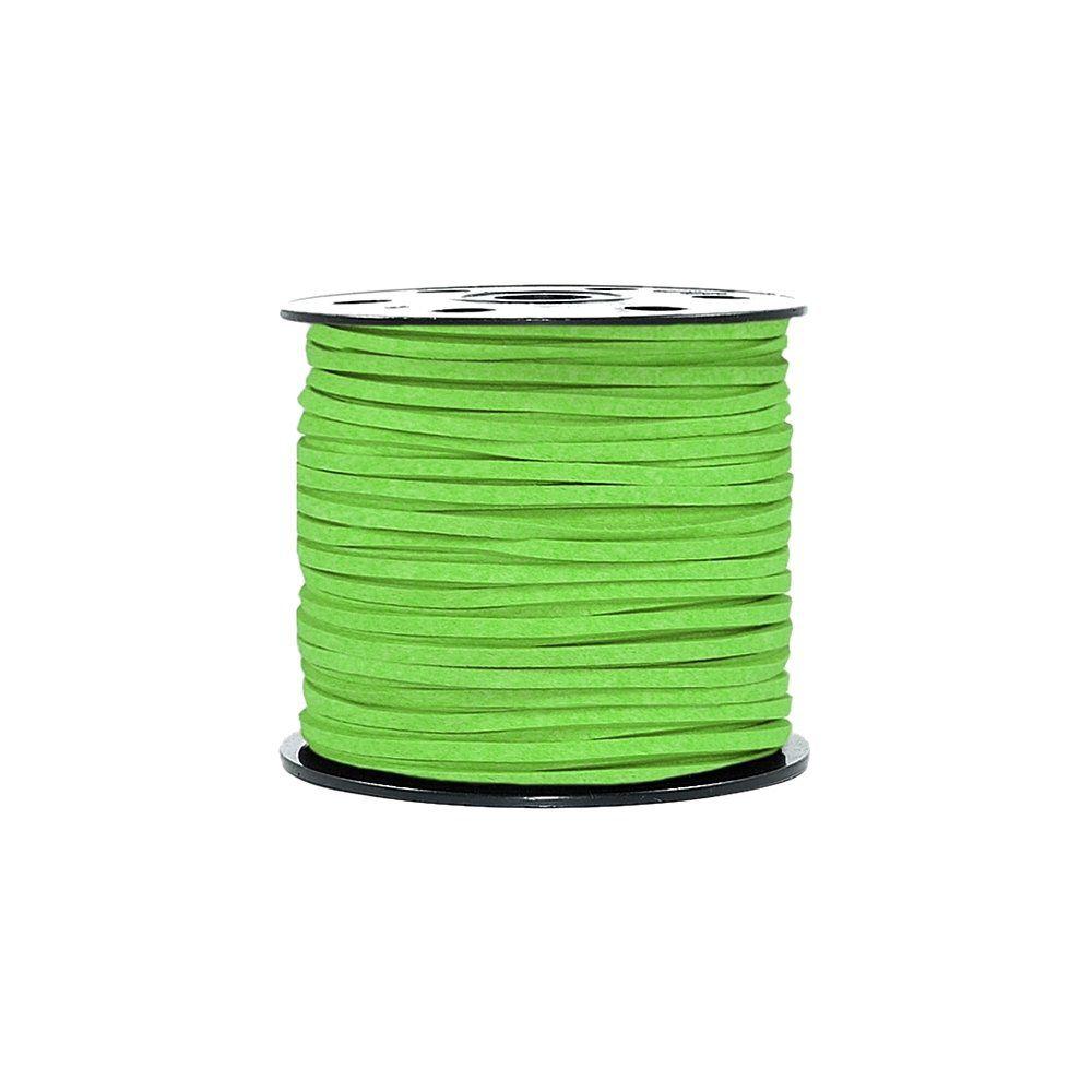 Fio de Camurça - Verde Neon - 3mm - 100m  - Nathalia Bijoux®