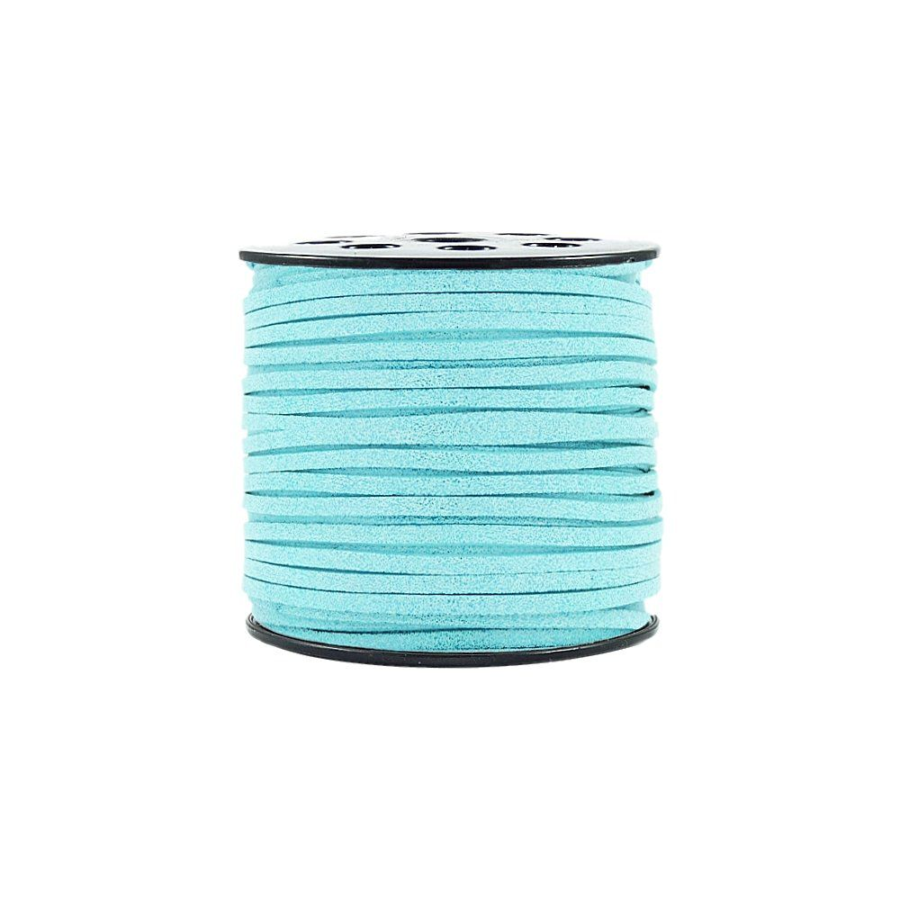 Fio de Camurça - Azul Bebê com Glitter - 3mm - 100m  - Nathalia Bijoux®
