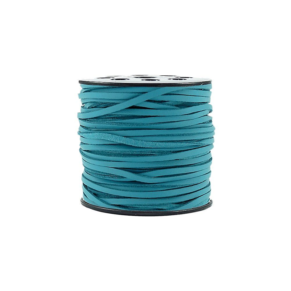 Fio de Camurça - Azul Especial - 3mm - 100m  - Nathalia Bijoux®