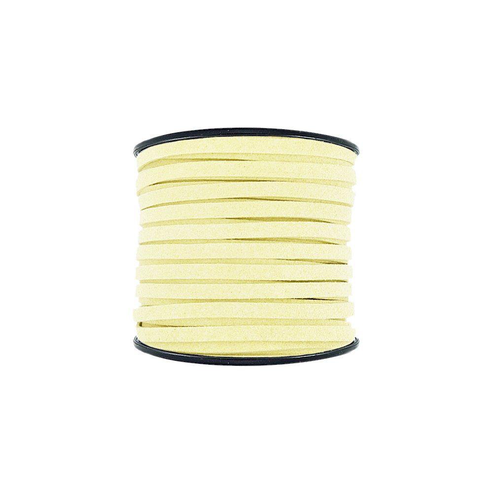 Fio de Camurça - Amarelo (918) - 5mm - 50m  - Nathalia Bijoux®