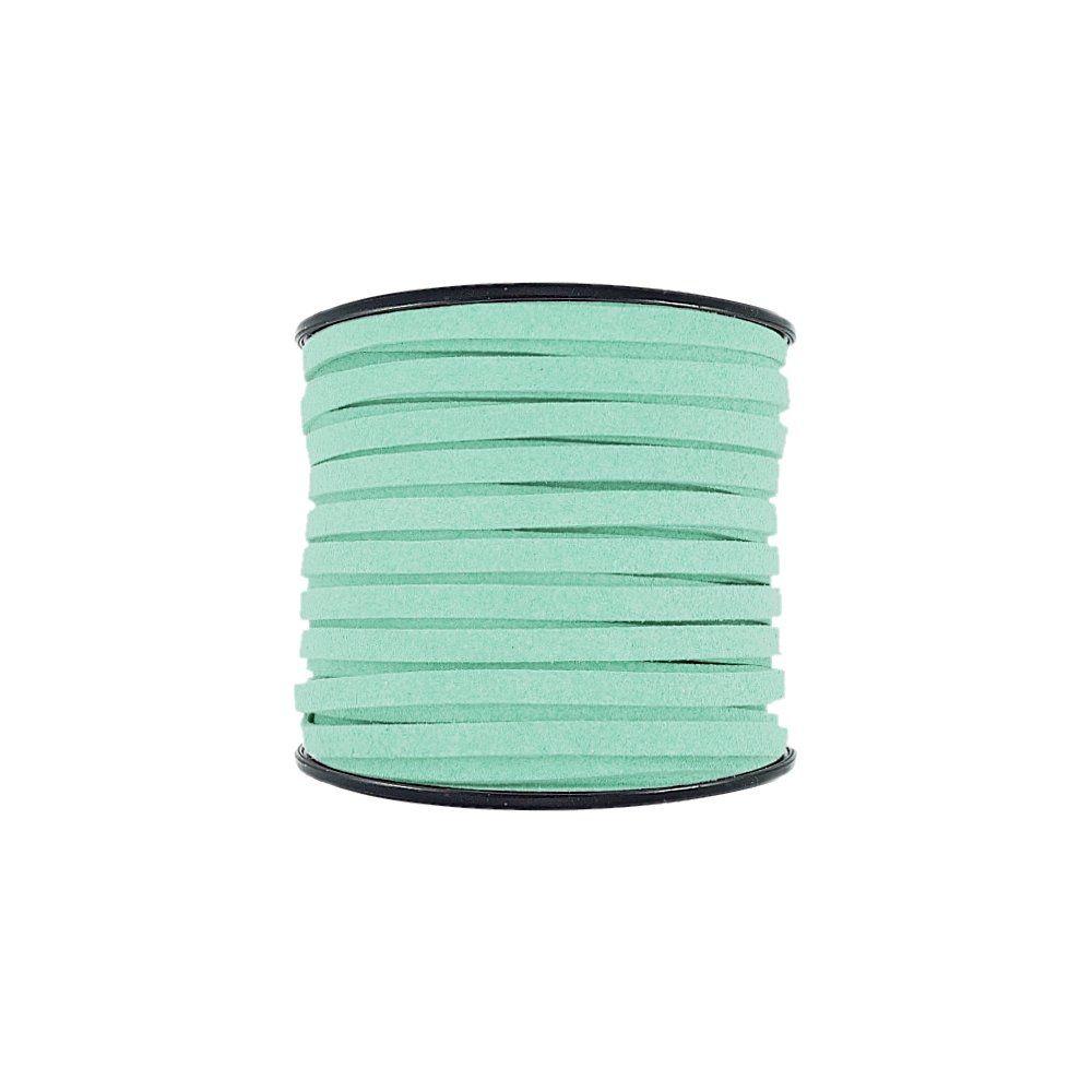 Fio de Camurça - Verde Menta (927) - 5mm - 50m  - Nathalia Bijoux®