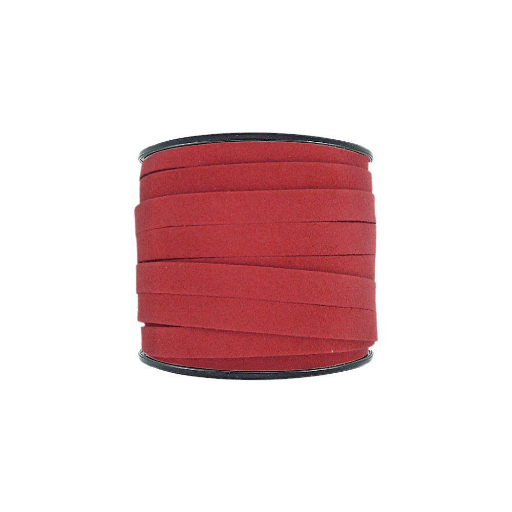 Fio de Camurça - Vermelho - 10mm - 30m  - Nathalia Bijoux®