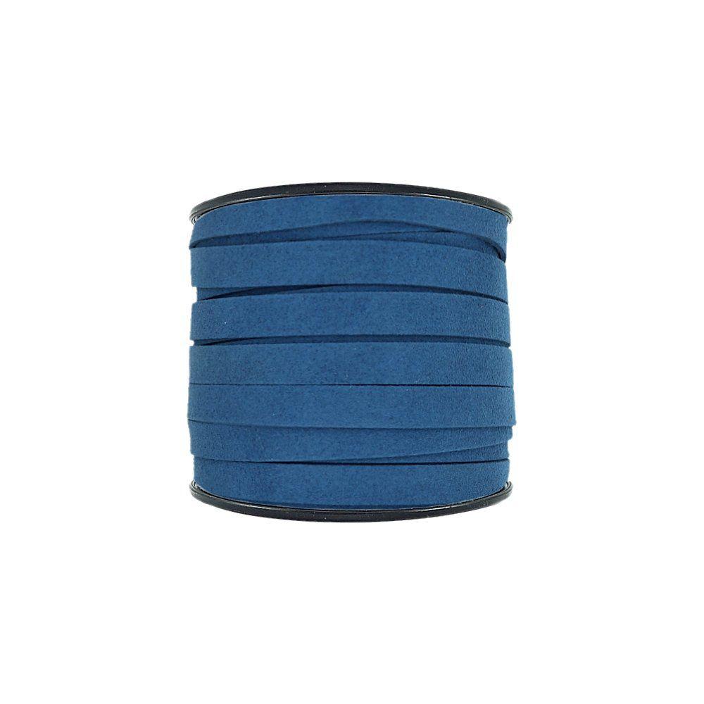 Fio de Camurça - Azul Royal - 10mm - 30m  - Nathalia Bijoux®