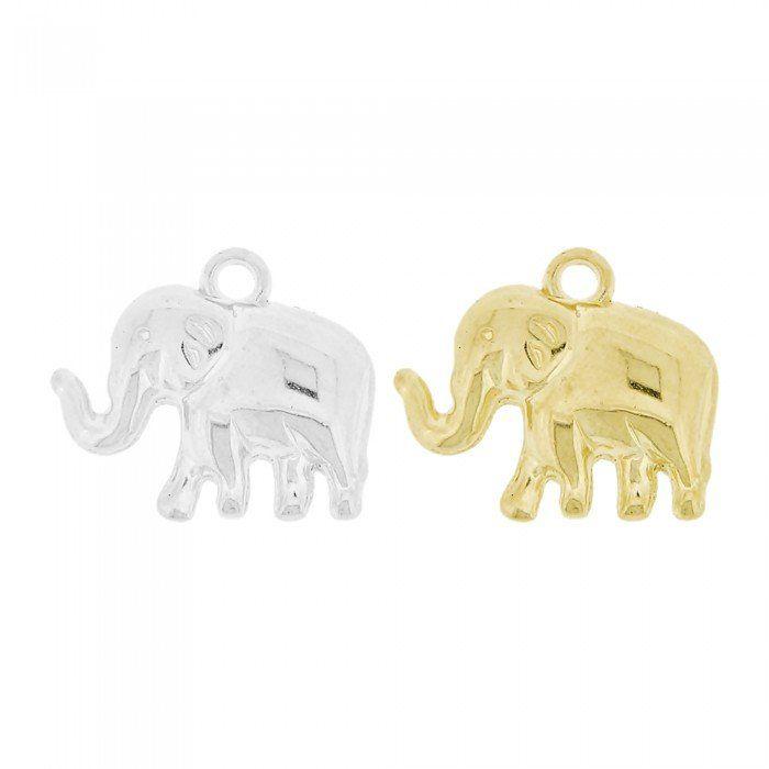 Pingente Elefante de ABS - 20mm  - Nathalia Bijoux®