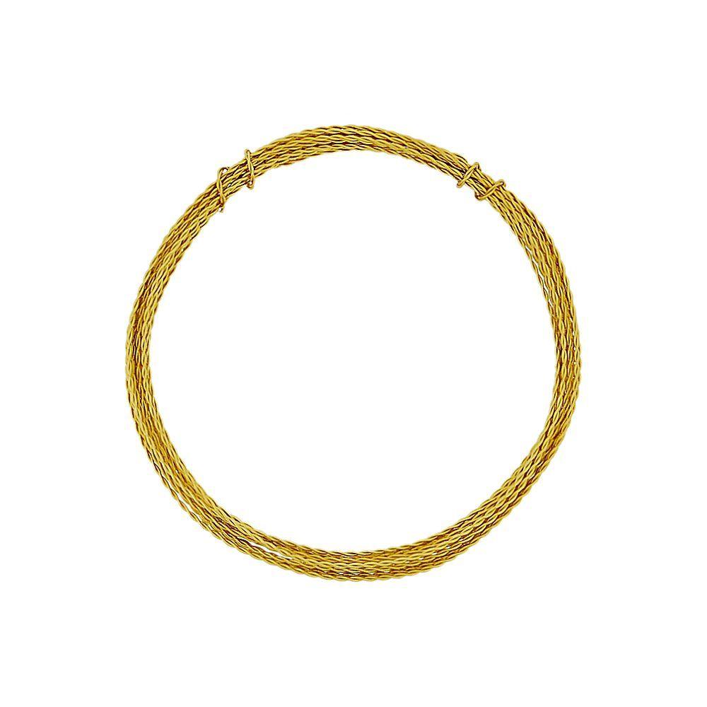 Arame de Alumínio Trançado - Dourado - 1.5mm - 5m  - Nathalia Bijoux®