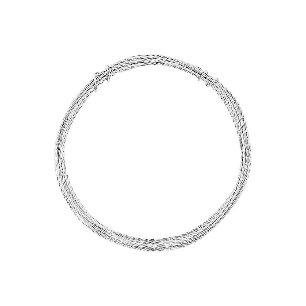 Arame de Alumínio Trançado - Níquel - 1.5mm - 5m  - Nathalia Bijoux®