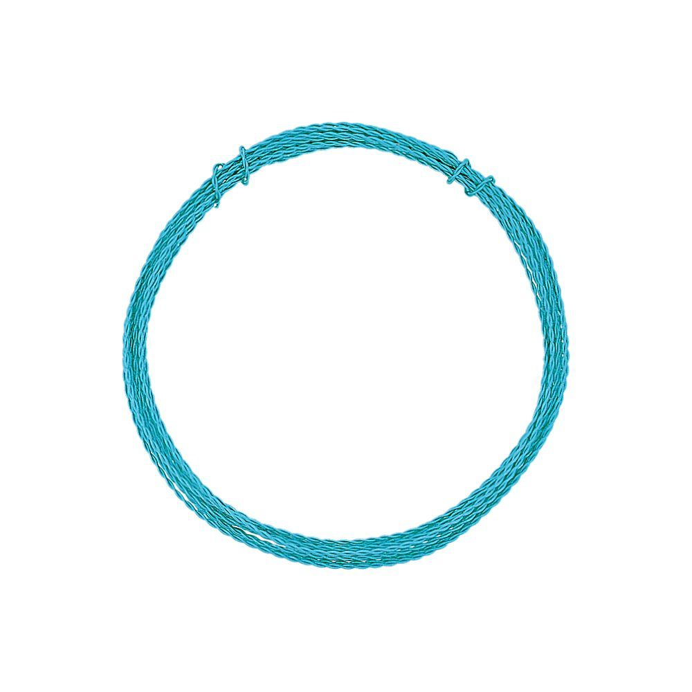Arame de Alumínio Trançado - Azul Turquesa - 1.5mm - 5m  - Nathalia Bijoux®