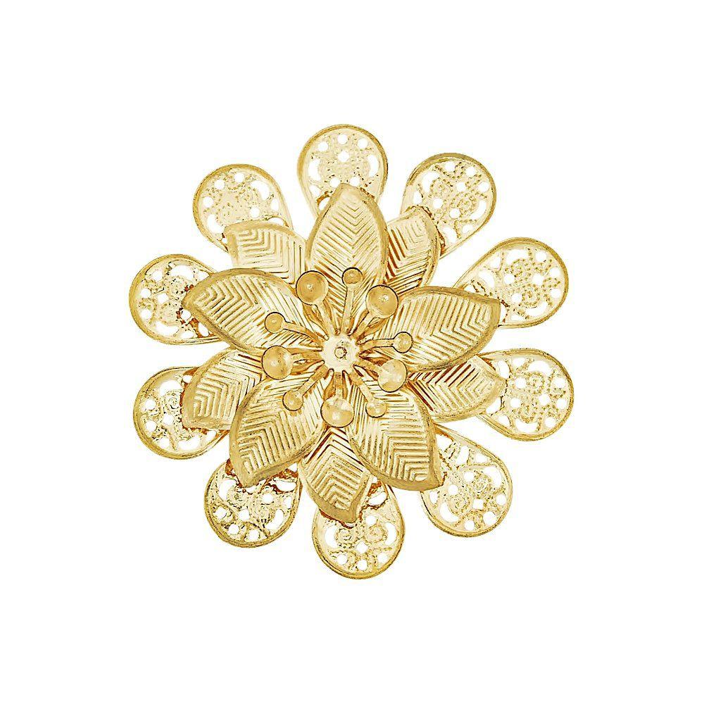 Pingente Flor de Metal - 54mm  - Nathalia Bijoux®
