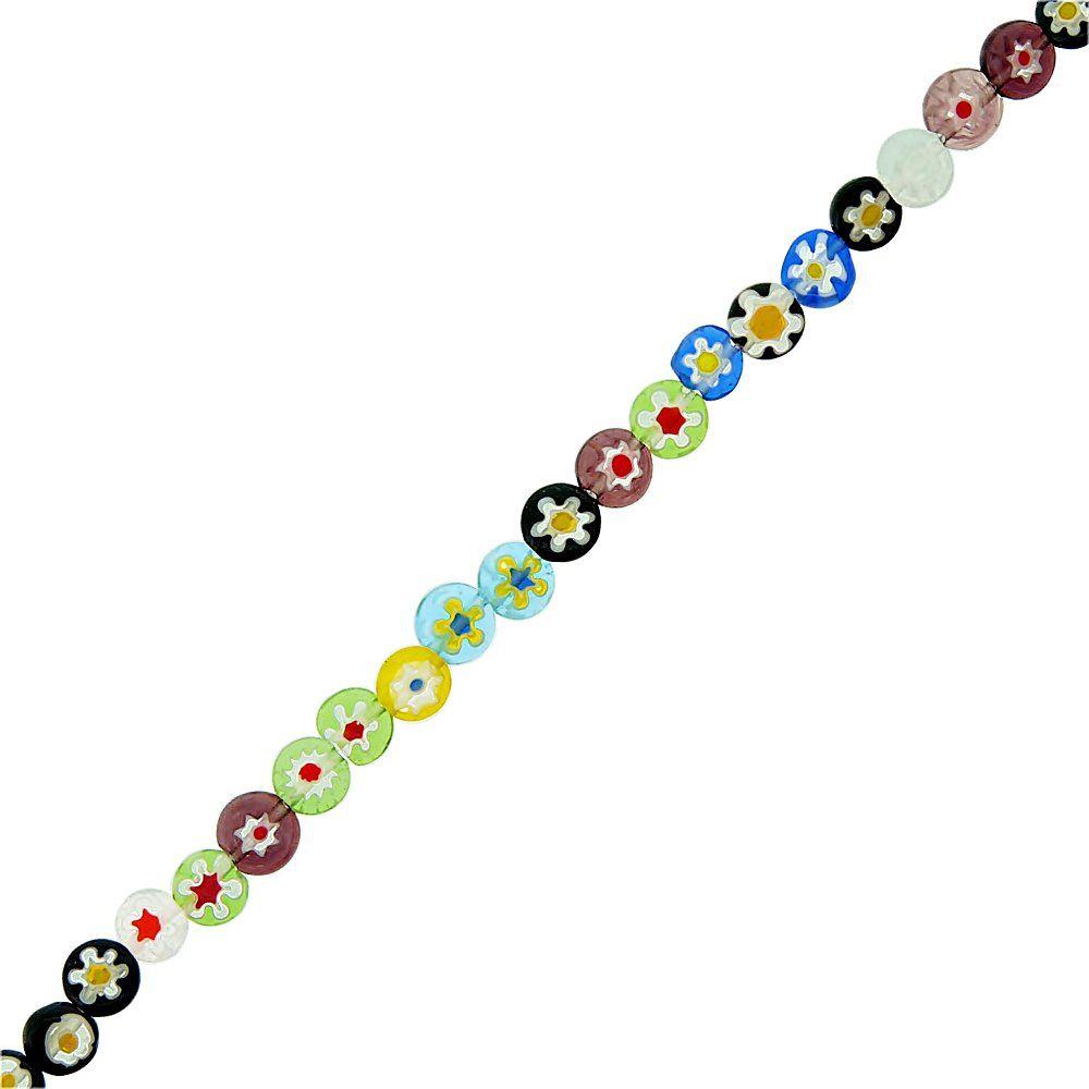 Fio de Pastilhas Redondas de Murano - 6mm - 38cm  - Nathalia Bijoux®