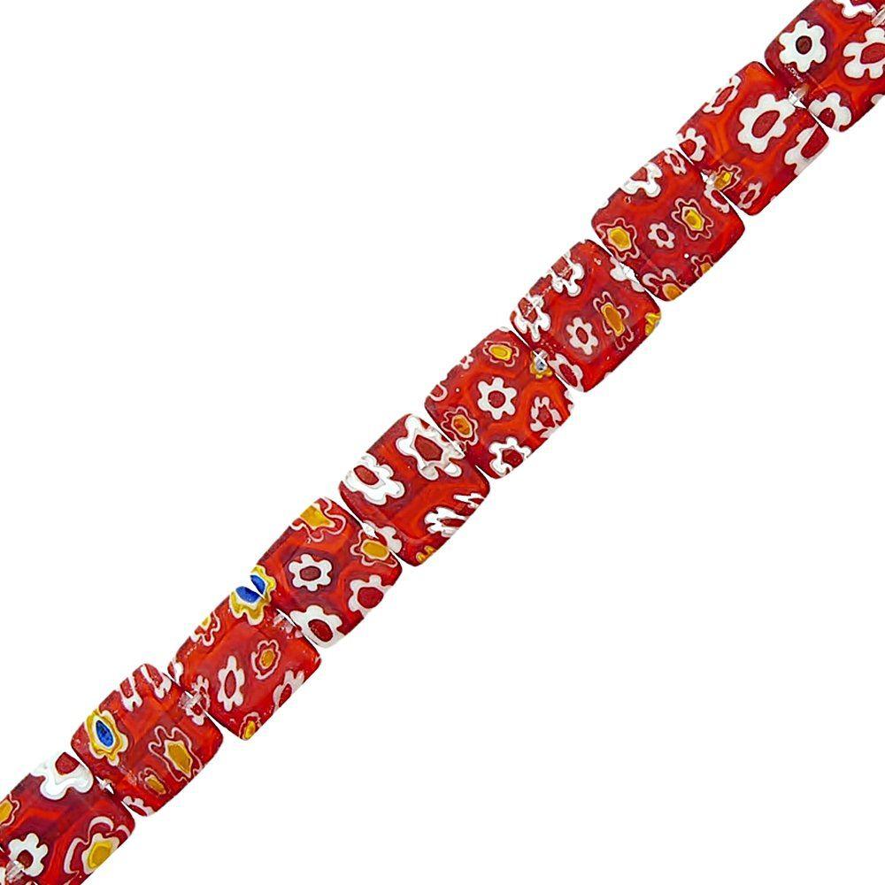 Fio de Pastilhas Quadradas de Murano - 12mm - 38cm  - Nathalia Bijoux®