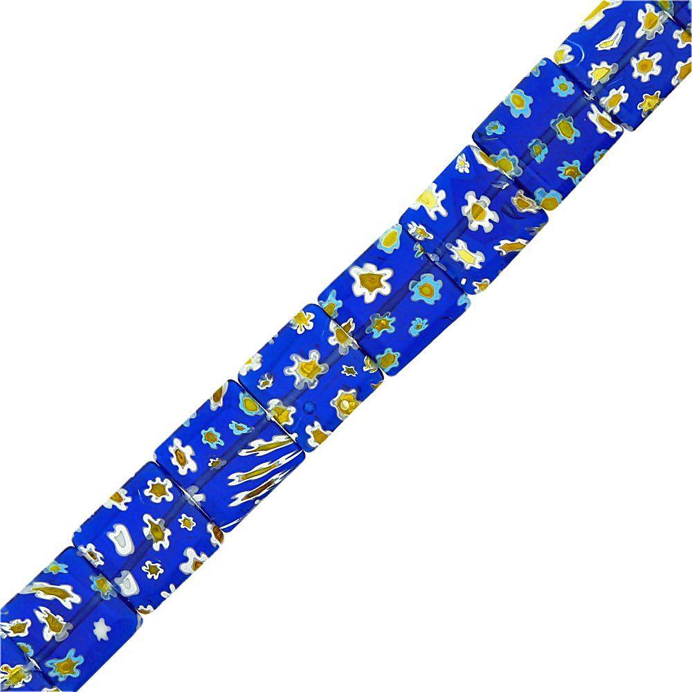 Fio de Pastilhas Quadradas de Murano - 14mm - 38cm  - Nathalia Bijoux®