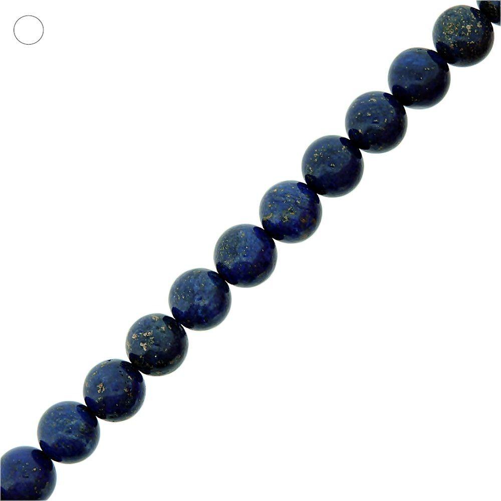 Fio de Bolinhas de Lapis Lazuli - 10mm - 40cm  - Nathalia Bijoux®
