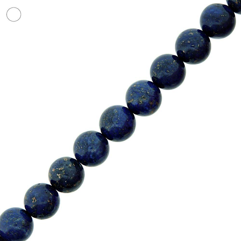 Fio de Bolinhas de Lapis Lazuli - 12mm - 40cm  - Nathalia Bijoux®