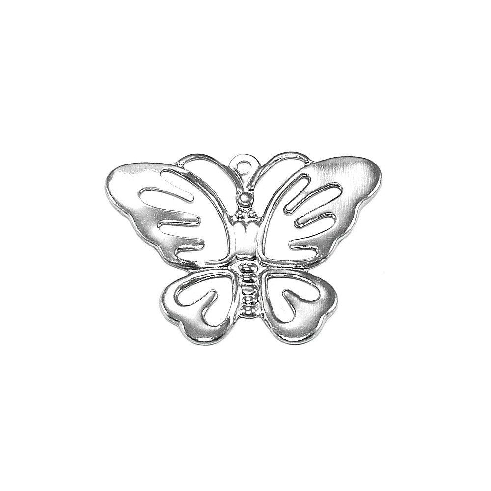 Pingente Borboleta de Metal - 19mm  - Nathalia Bijoux®