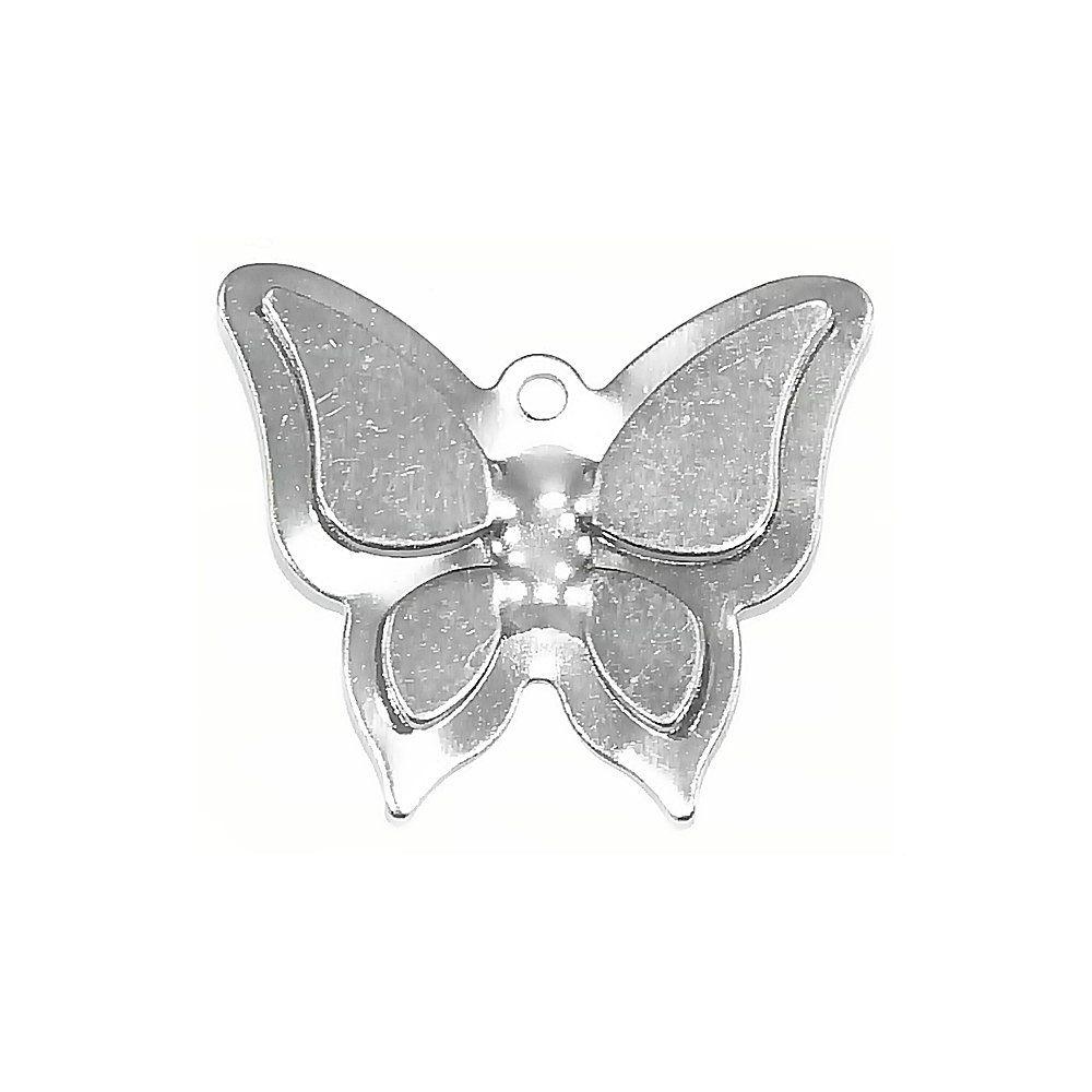 Pingente Borboleta de Metal - 6mm  - Nathalia Bijoux®