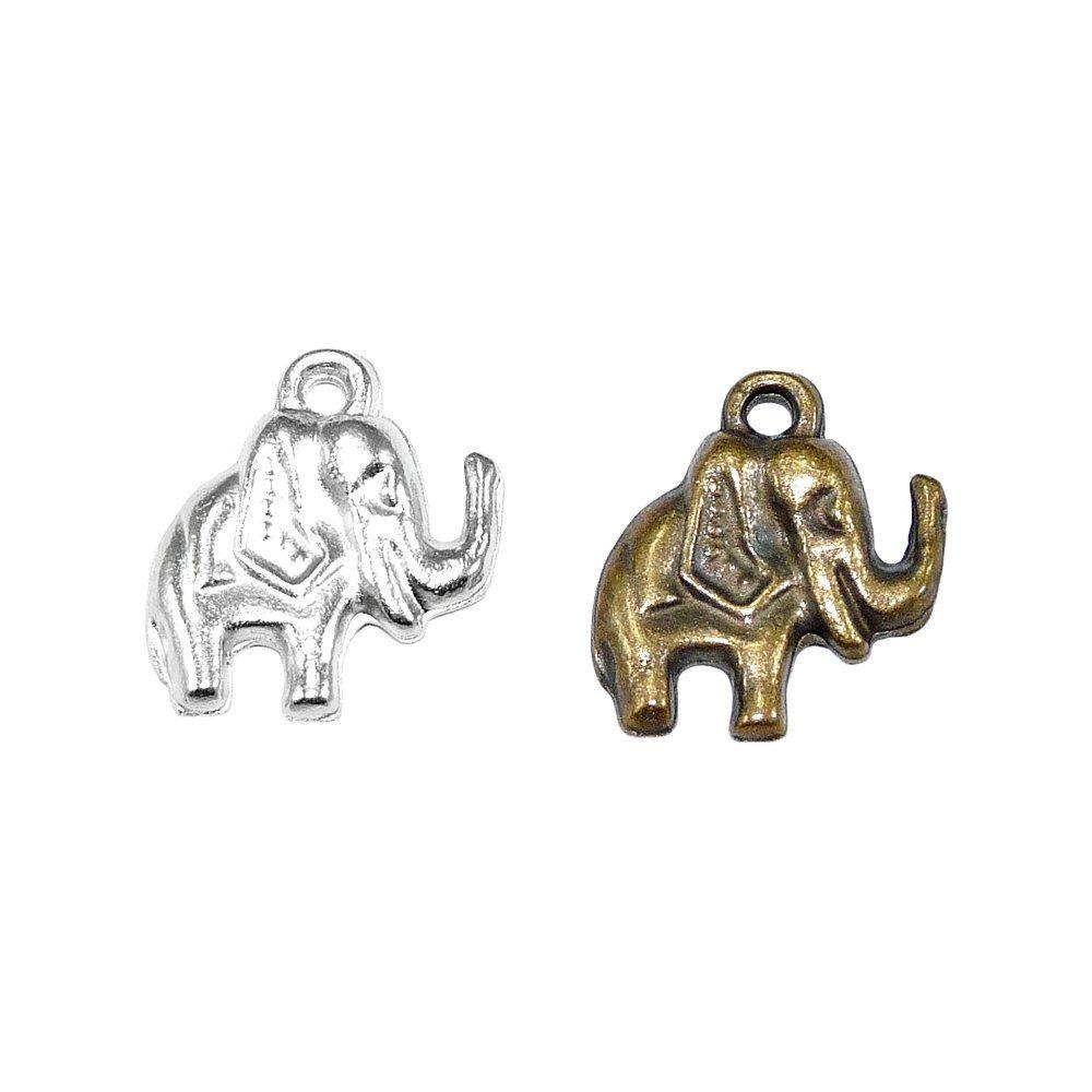Pingente Elefante de Metal - 14mm  - Nathalia Bijoux®