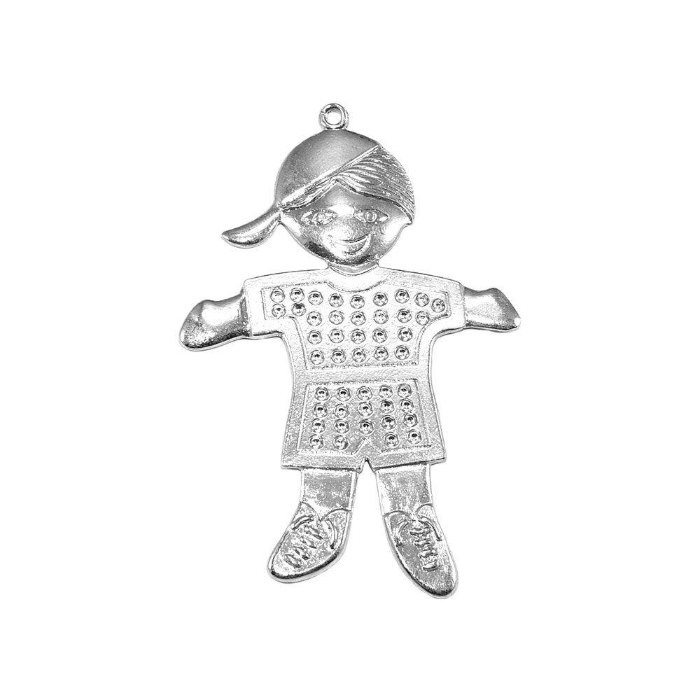 Pingente Menino de Metal - 75mm  - Nathalia Bijoux®