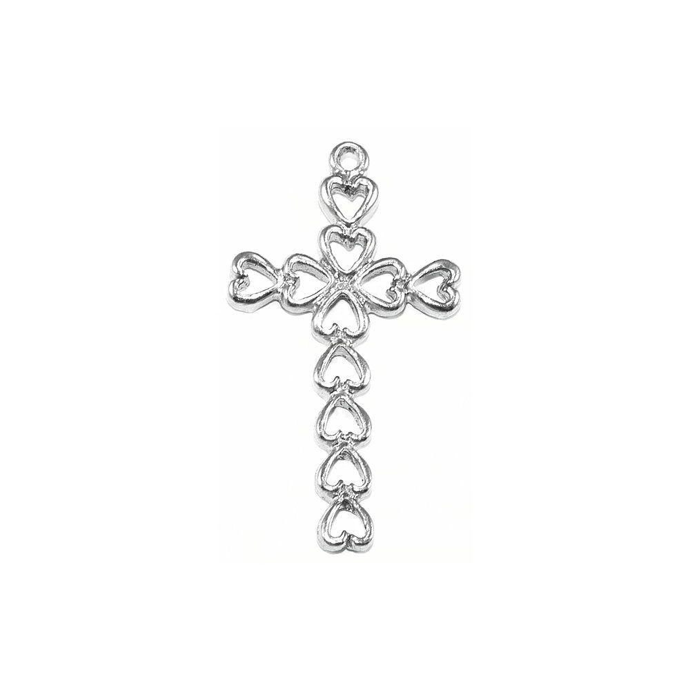Pingente Cruz de Metal - 33mm  - Nathalia Bijoux®
