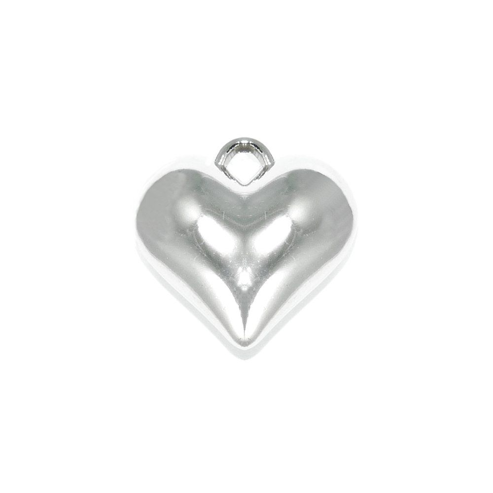 Pingente Coração de ABS - 25mm  - Nathalia Bijoux®