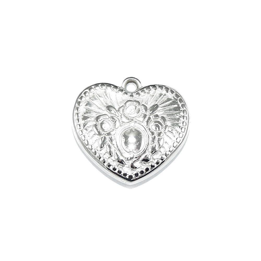 Pingente Coração de ABS - 24mm  - Nathalia Bijoux®