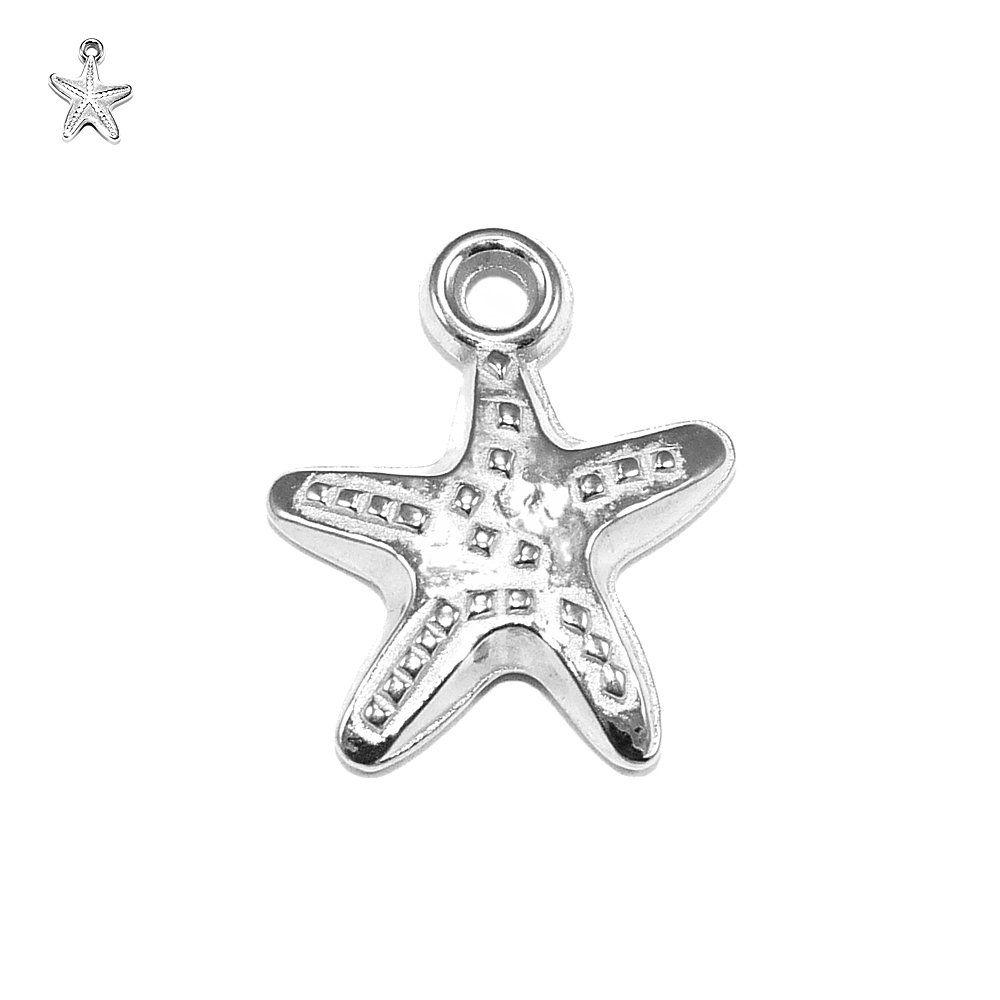 Pingente Estrela do Mar de ABS - 18mm  - Nathalia Bijoux®