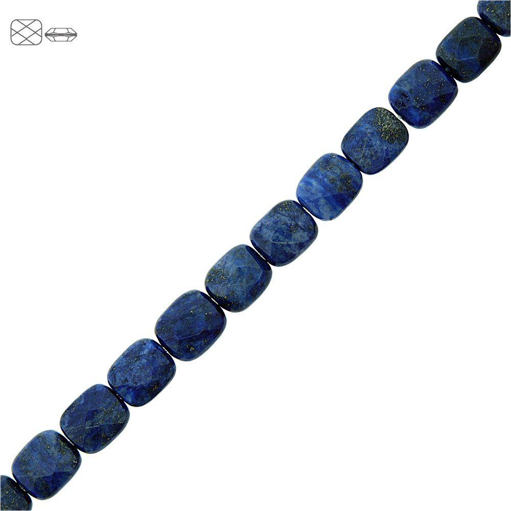 Fio de Pastilhas Retangulares Facetadas de Lapis Lazuli - 10mm - 40cm  - Nathalia Bijoux®
