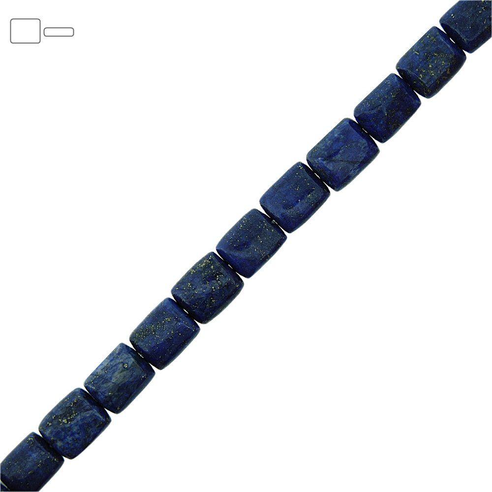 Fio de Pastilhas Retangulares de Lapis Lazuli - 10mm - 40cm  - Nathalia Bijoux®