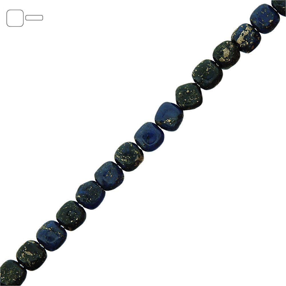 Fio de Pastilhas Quadradas de Lapis Lazuli - 8mm - 40cm  - Nathalia Bijoux®
