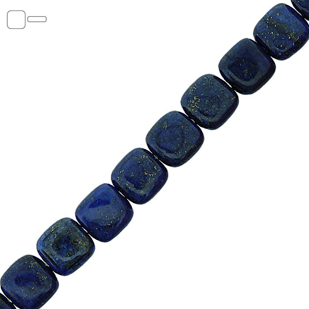 Fio de Pastilhas Quadradas de Lapis Lazuli - 12mm - 40cm  - Nathalia Bijoux®