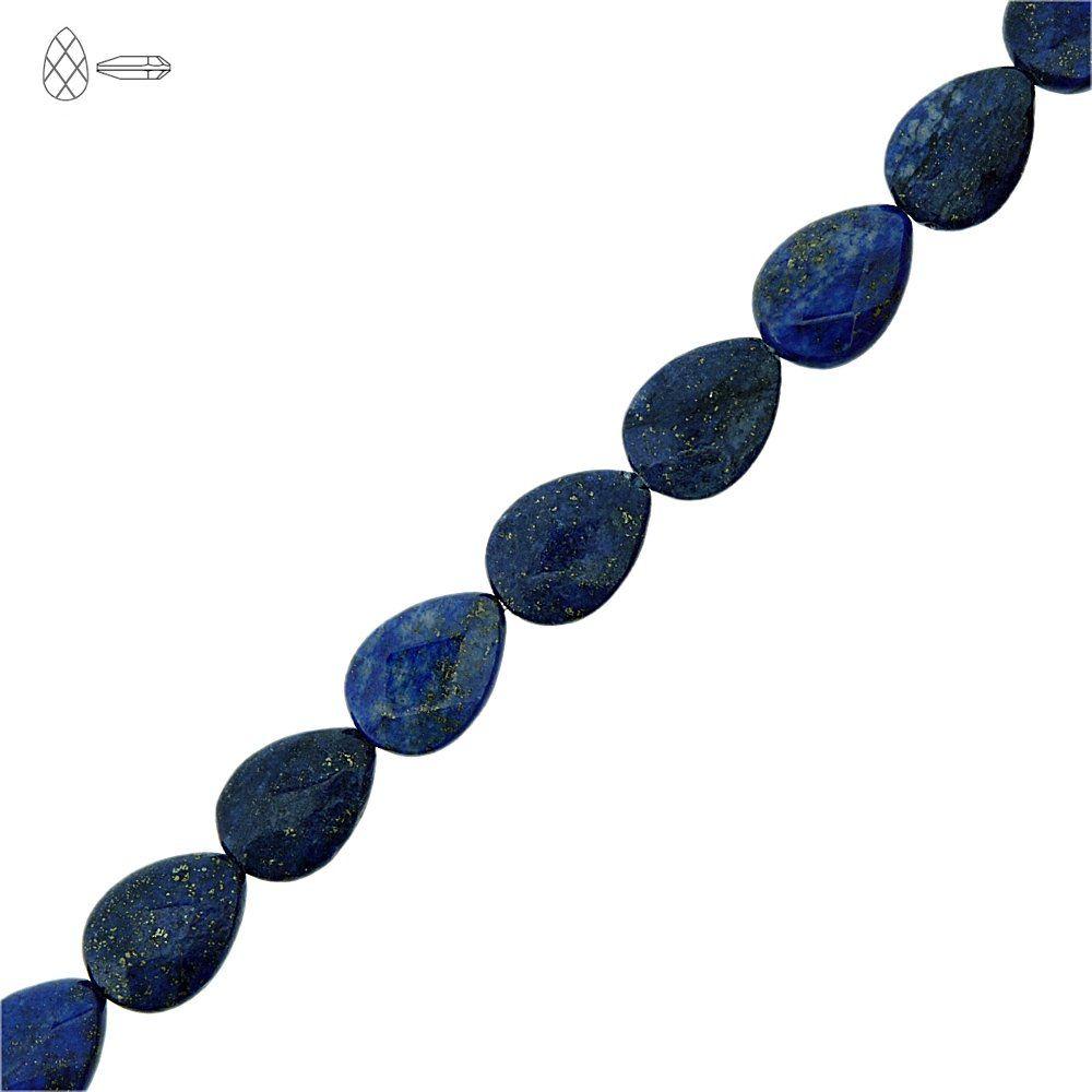 Fio de Gotas Facetadas de Lapis Lazuli - 14mm - 40cm  - Nathalia Bijoux®