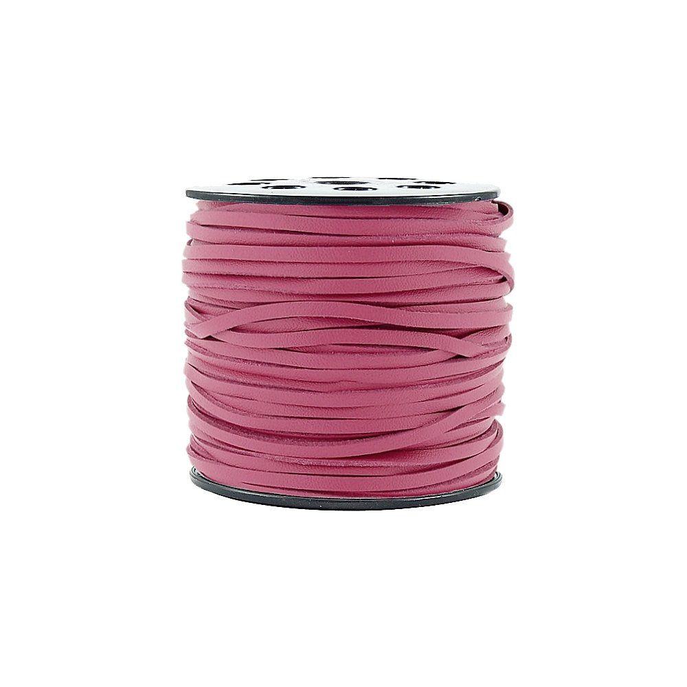 Fio de Camurça - Pink Especial - 5mm - 50m  - Nathalia Bijoux®