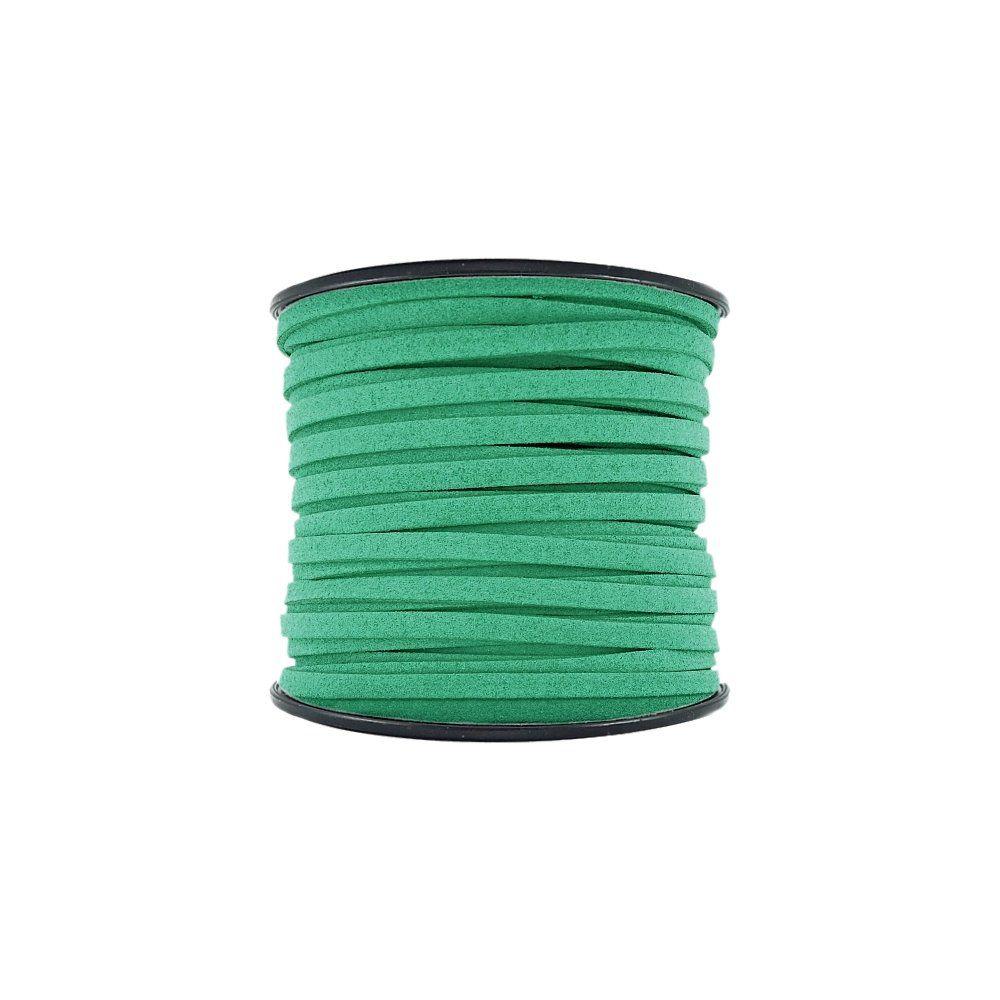 Fio de Camurça - Verde Esmeralda - 5mm - 50m  - Nathalia Bijoux®