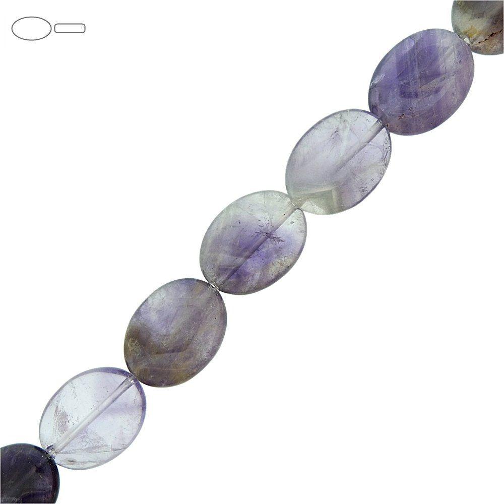 Fio de Pastilhas Ovais de Ametista - 20mm - 40cm  - Nathalia Bijoux®