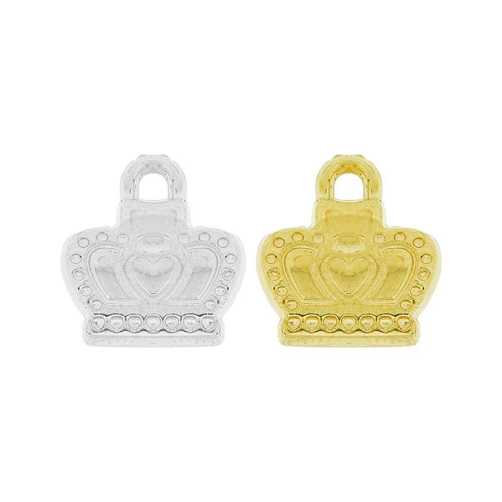 Pingente Coroa de ABS - 16mm  - Nathalia Bijoux®