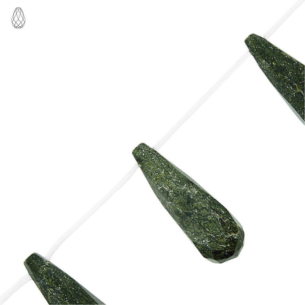 Fio de Gotas Facetadas de Jaspe Cobra - 40mm - 40cm  - Nathalia Bijoux®