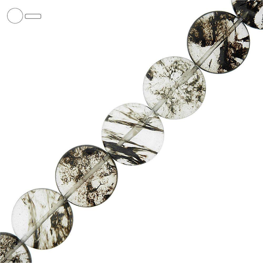 Fio de Pastilhas Redondas de Vidro - Variado Fashion Black - 20mm - 40cm  - Nathalia Bijoux®