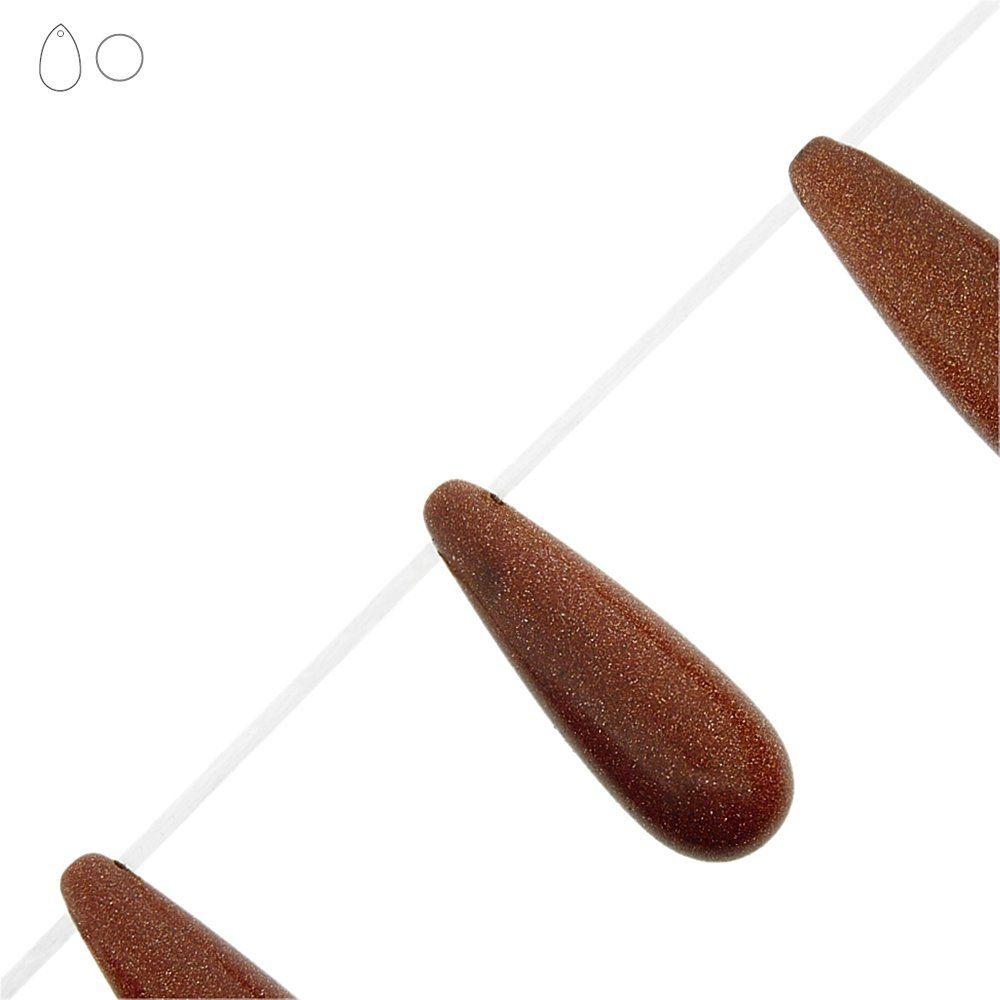 Fio de Gotas de Pedra do Sol - 40mm - 40cm  - Nathalia Bijoux®