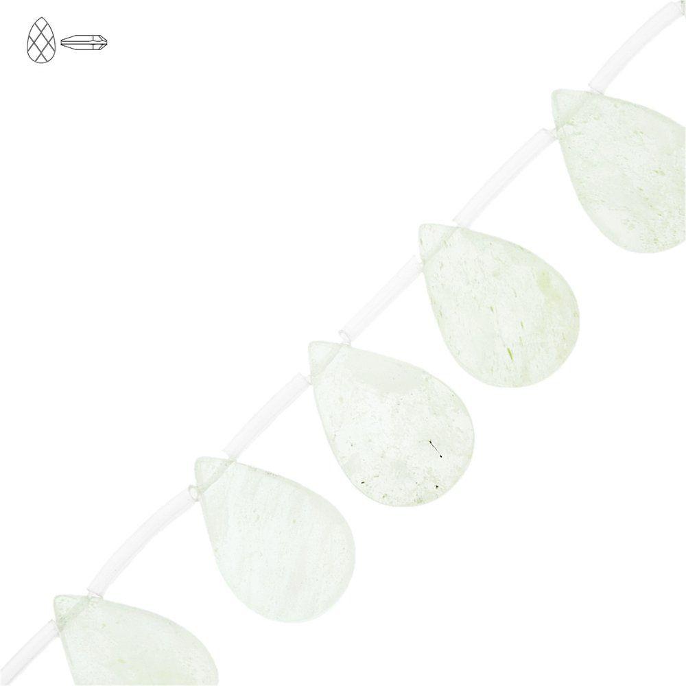 Fio de Gotas Facetadas de Vidro - Variado Fashion Opal - 25mm - 40cm  - Nathalia Bijoux®