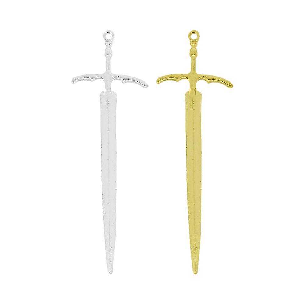Pingente Espada de Metal - 86mm  - Nathalia Bijoux®