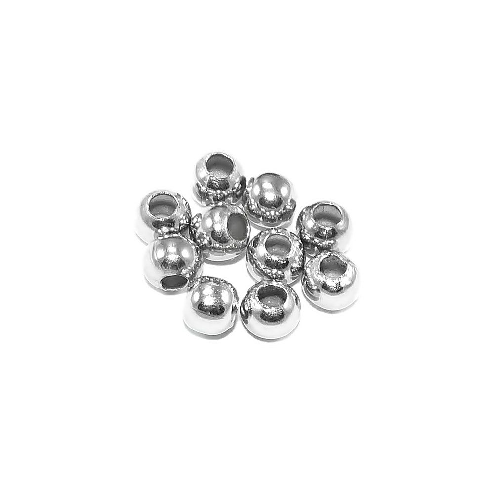 Entremeio Bolinha de Metal - 3.5mm - 25g  - Nathalia Bijoux®