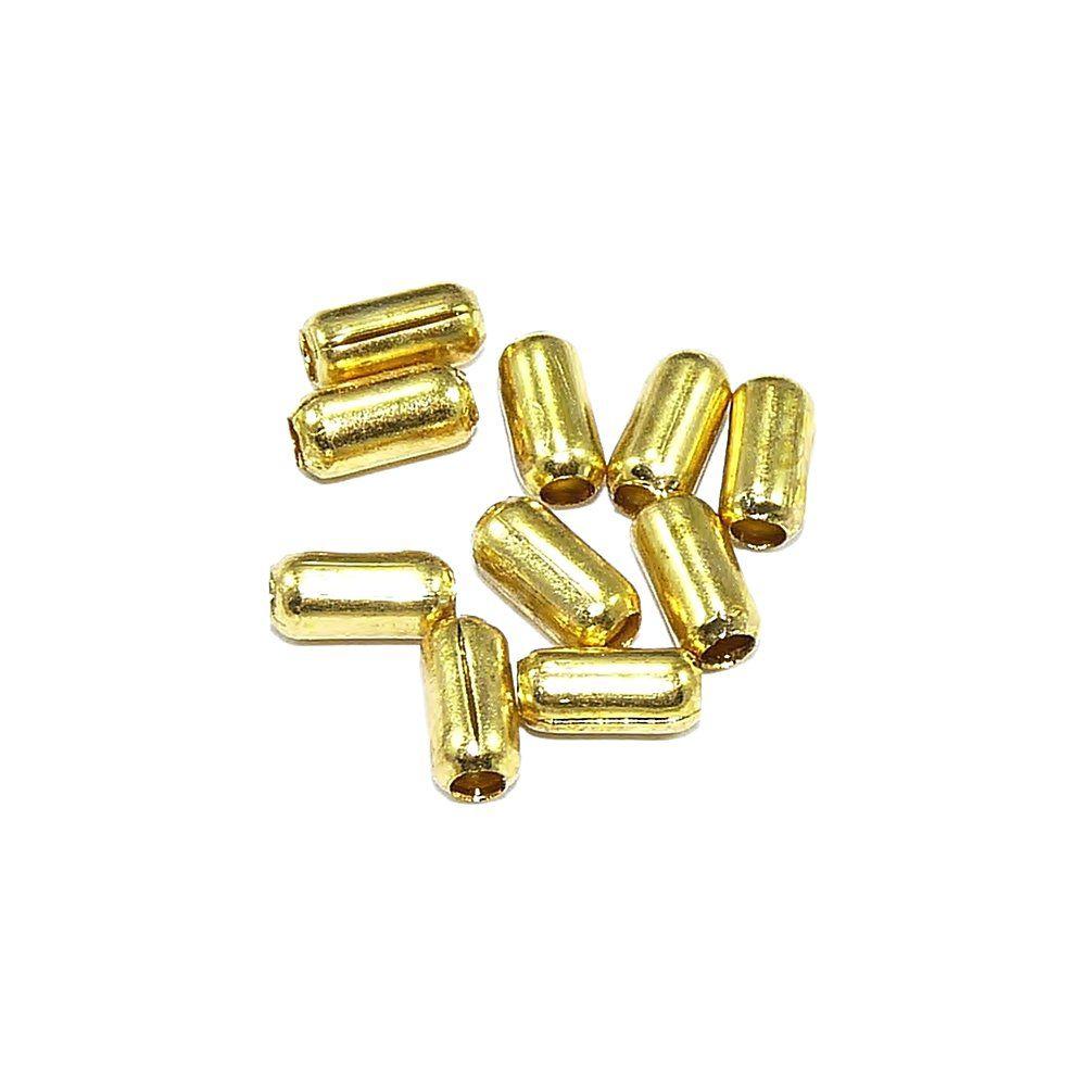 Entremeio Conta de Metal - 5mm - 25g  - Nathalia Bijoux®