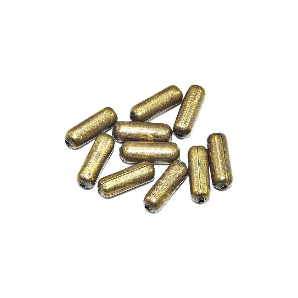 Entremeio Conta de Metal - 10mm - 25g  - Nathalia Bijoux®