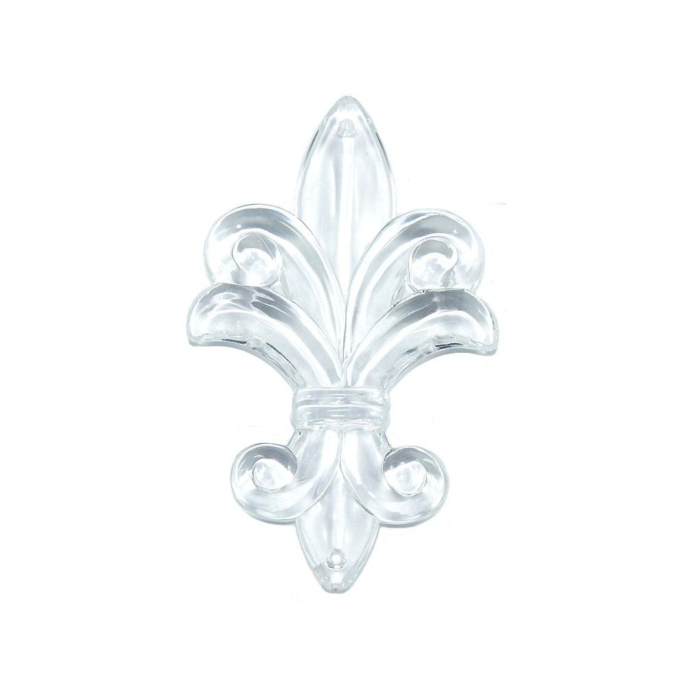 Pingente Flor de Lis de Acrílico - 79mm  - Nathalia Bijoux®