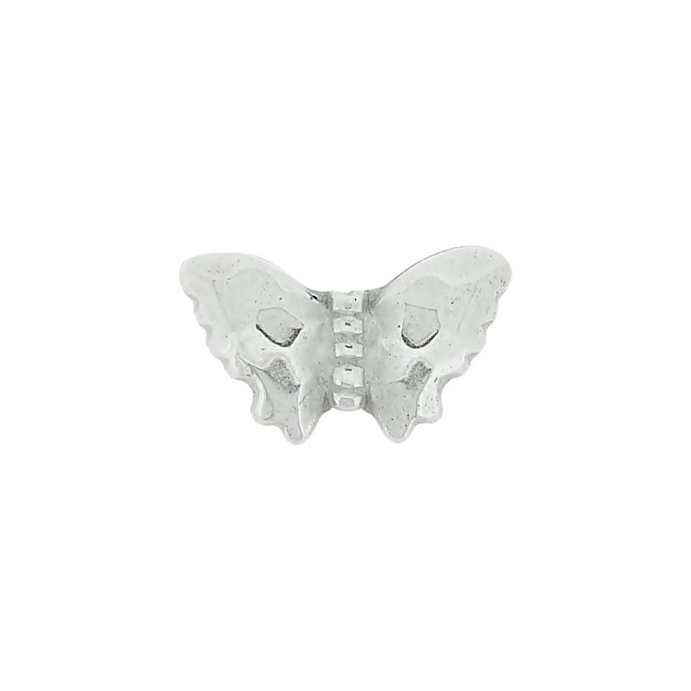 Entremeio Borboleta de ABS - 9.5mm  - Nathalia Bijoux®