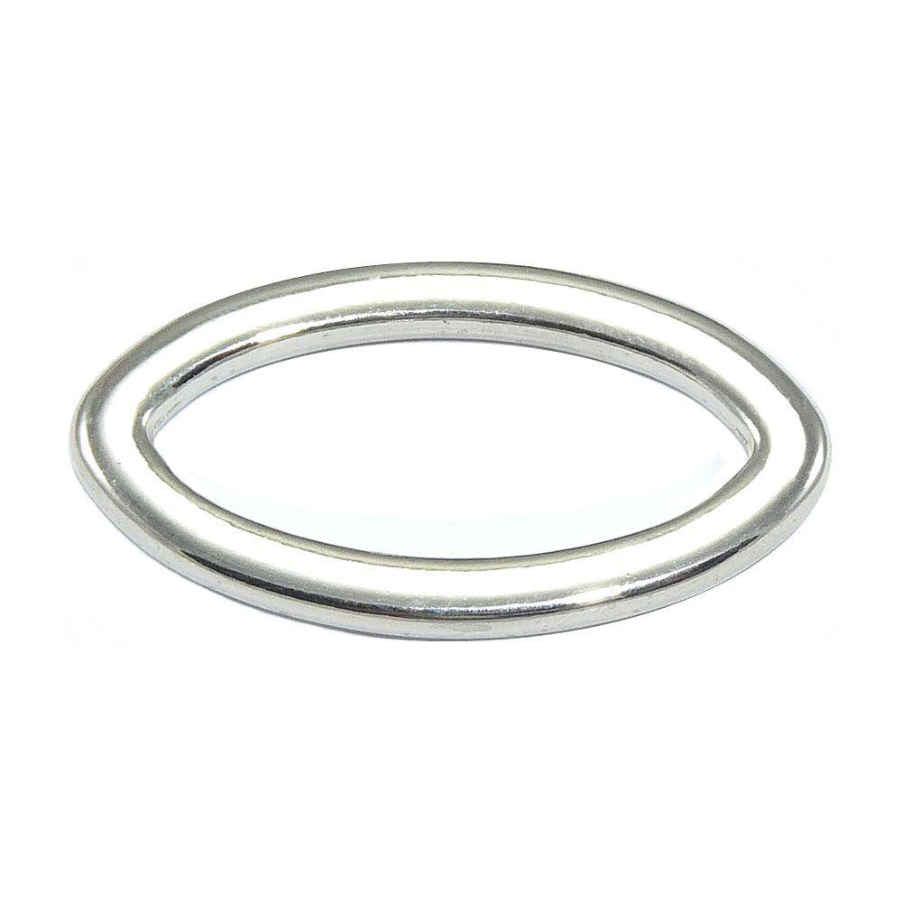 Argola Oval de ABS - 43mm  - Nathalia Bijoux®